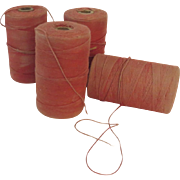 Vintage Spools of Twine Thread String Old Faded Color