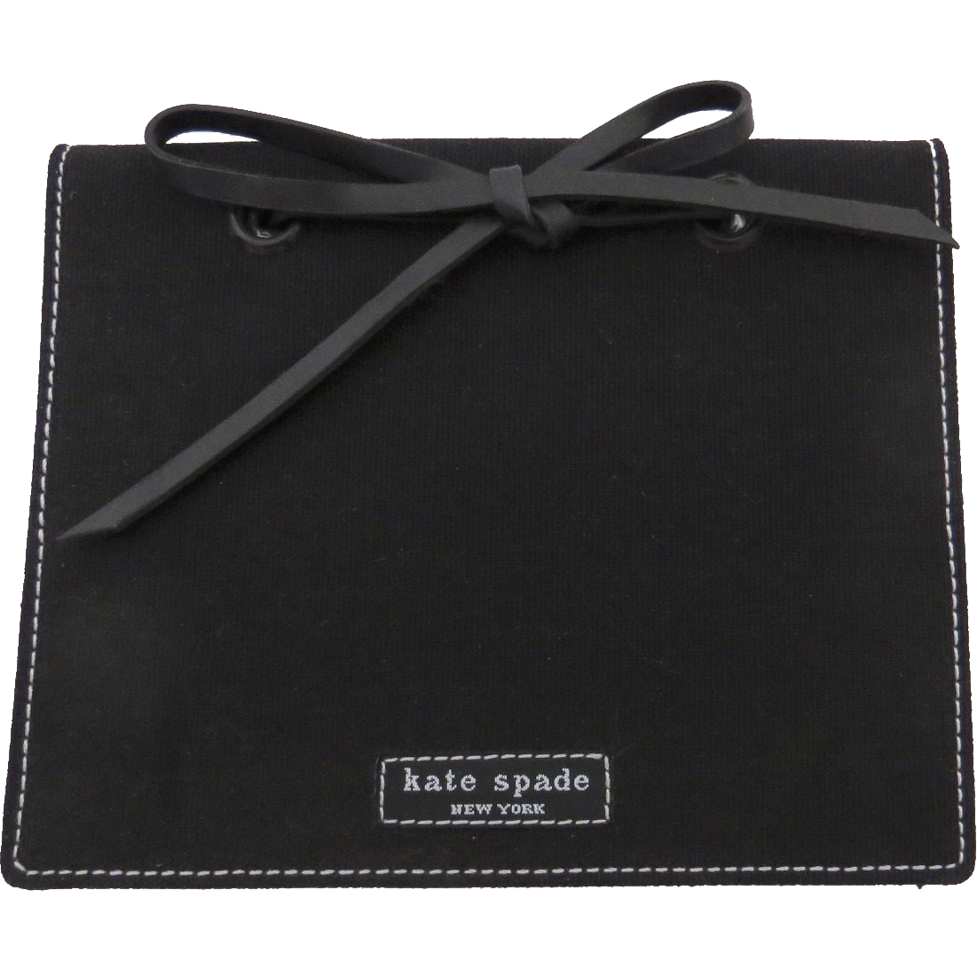 Kate Spade Black Small Photo Album Book with Leather Tie
