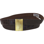 Vintage Double Gianfranco Ferre Belt Wide 1980's Italy Italian