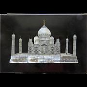 Vintage Marble Mother of Pearl Inlaid Taj Mahal Box