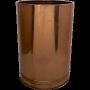 """Vintage Copper Waste Trash Basket Bin Can by """"Kreamer"""""""