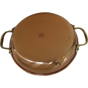 Vintage Copper Copral Au Gratin Pan made in Portugal