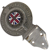 Royal Automobile Club Car Badge Union Jack c 1926 Mounting Bracket
