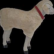 "Large Vintage German Germany Wooly Sheep 5 1/4"" tall"