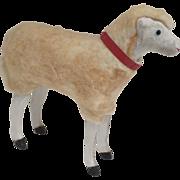Vintage Wooly German Germany Sheep Putz Stick Leg
