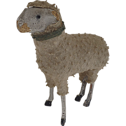 Vintage Wooly German Germany Sheep Putz Stick Leg