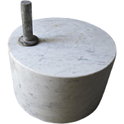 Round Marble Base Doorstop Vintage Re-Purpose