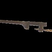 "Large Wooden Primitive Vise Clamp Ratchet Furniture Cabinetmaker Bar Iron Turned Handle 51"" Long"