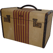 "Vintage Oshkosh Luggage ""Chief"" Vanity Cosmetics Makeup Case Train 1930's American Symbol of Vintage Luxury Travel Suitcase"