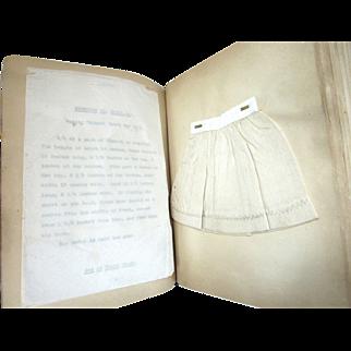 Late 19th Century Philadelphia Textile School Notes Exercise Books (2)
