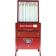 1950's Tom's Roasted Peanut Vending Machine Red 5 Cents