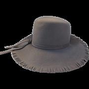 Vintage 1970's Hat Floppy Brim Fringe Edge Peachfelt Henry Pollack