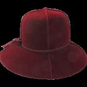 Vintage 1960's Merrimac Velour Imported Fur Hat