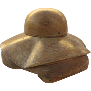 Vintage Hat Mold Two Part Wide Floppy Brim