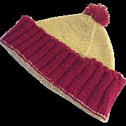 Vintage Handmade Knit Winter Boys Cap