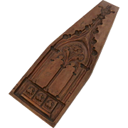 Large French Paris Trottier Copper Chocolate Mold Gothic Steeple c 1880