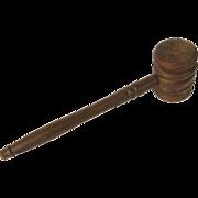 Vintage Wood Gavel Judge or Auctioneer Hammer