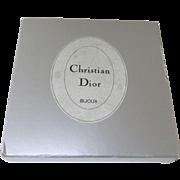 Vintage Silver Christian Dior Bijoux Necklace Box