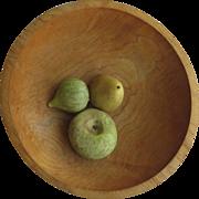 "Vintage Turned Wooden Bowl 12"" Diameter by Tree Spirit"