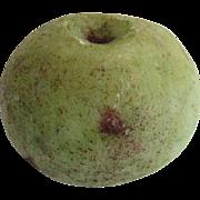 Vintage Large Green Apple Italian Carved Marble Stone