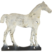 19th Century Windmill Weight Cast Iron Horse with White Paint