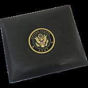 Vintage Leather Album United States Army Medallion