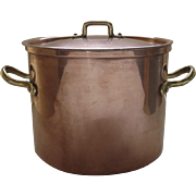 Vintage Copper Stock Pot by B & M made in Portugal