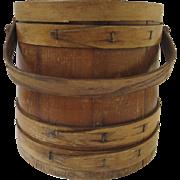 Wooden Sugar Bucket Firkin