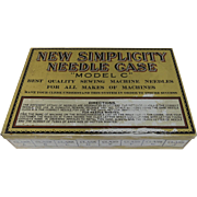 New Simplicity Litho Tin Needle Case Box Advertising with Needles