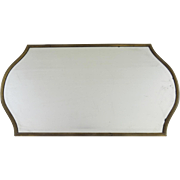 20th century Brass Shaped Mirrored Plateau