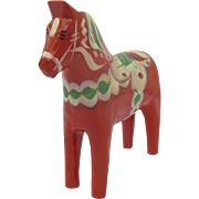 Vintage Nils Olsson Painted Folk Art Dala Horse