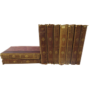 """19th Century Collection of Honore de Balzac's English Translation """"Scenes of Provincial Life"""" 9 vol. Leather Spine"""