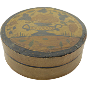 Early Papier Mache Box American Hand-Painted