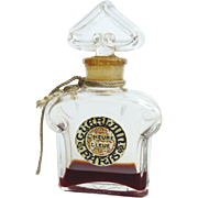 Vintage Perfume Bottle Guerlain Paris L'Heure Bleue Tassel Tag Bottle made in France Parfume
