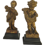 Two (2) Putti Angels Figures Italy Italian Borghese