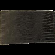 Vintage Pigskin Brown Wallet Check Book Credit Card Case Made in Canada Pocket Day Timer Senior