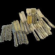 Large Lot Vintage Silver Plated Forks Knives Re-Purpose Crafts (24)