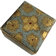 Vintage Italian Florentine Gilt Painted Small Box
