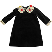 Vintage Florence Eiseman from Merry Simmons 4T Navy Blue Velvet Dress