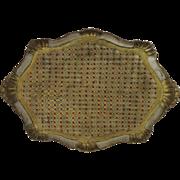 Vintage Large Florentine Painted Gilt Tray