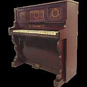 Rare Schoenhut Child's Faux Rosewood Upright Piano 19th Century