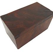 Small American Mahogany Box