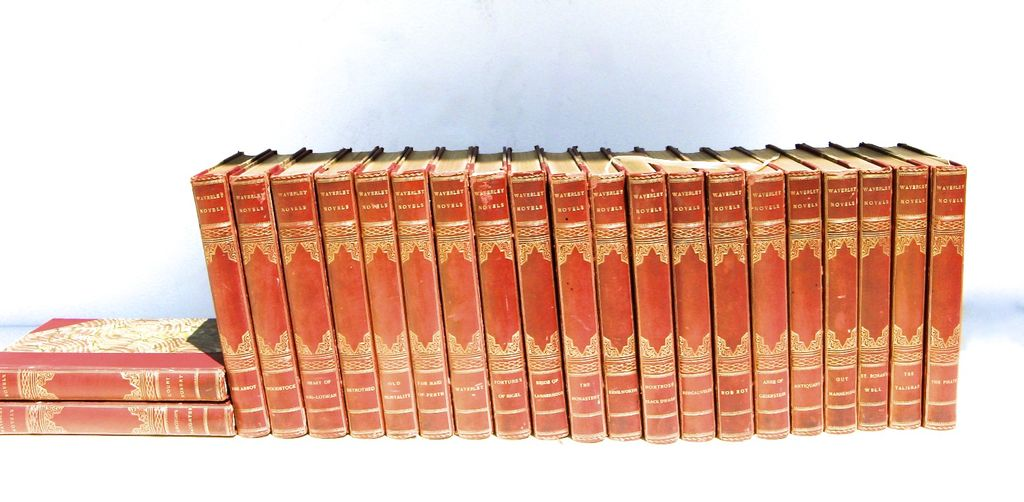 22 Vol. Waverly Novels by Sir Walter Scott Leather