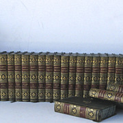 45 Volumes Scott's Novel Leather Bindings