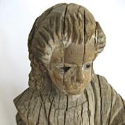 Carved Wood Santo 19th Century