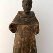 Philippine carved Santo in monk's robes