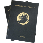 Histoire de France Larousse, edited by Marcel Reinhard, 1954, 2 Volumes