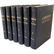 Larousse du XXe Siecle French, 6 Volumes 1928