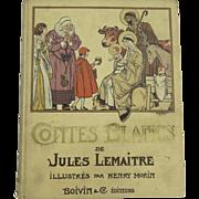 Jules Lemaitre Contes Blancs White Tales Published 1924 by Boivin et Compagnie