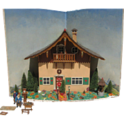 Signed and Dated 1941 German Alpine Diorama House Chalet